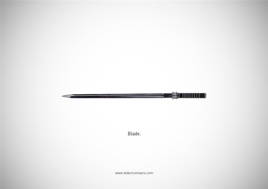 Знаменитые клинки, ножи и тесаки культовых персонажей / Famous Blades by Federico Mauro - Blade