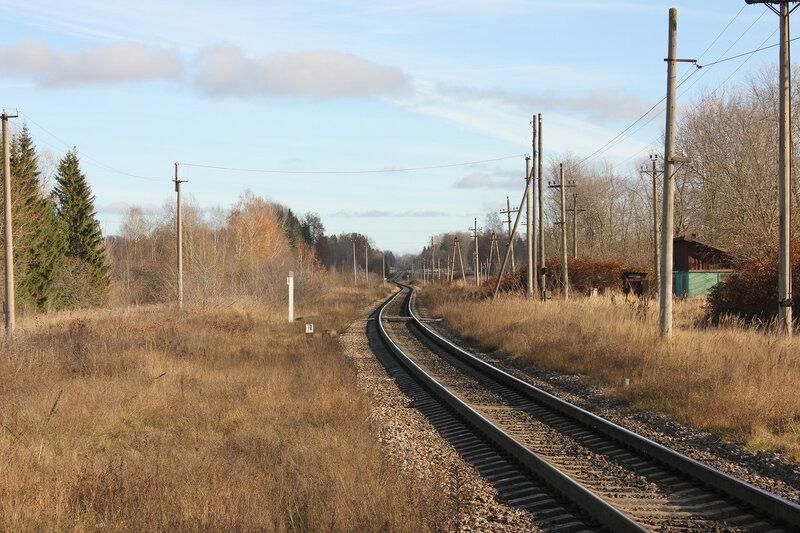 Бывшая станция Кузнецовка, вид на Москву