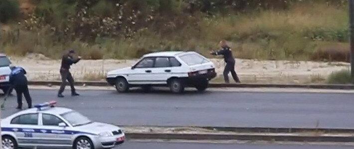 Гомельский дворник продолжал подметать асфальт во время вооруженного захвата подозреваемого