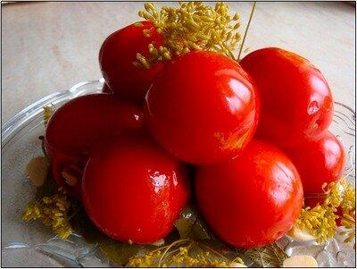 Консервированные помидоры с мёдом