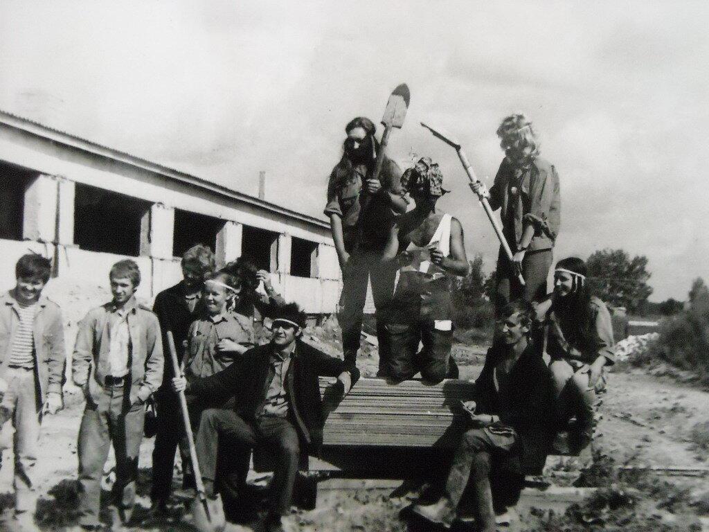Ленинградский объединенный стройотряд. Июль 1975 год