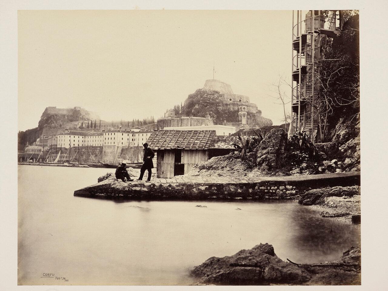 24 февраля 1862. Цитадель от пляжа ниже губернаторского сада на Корфу