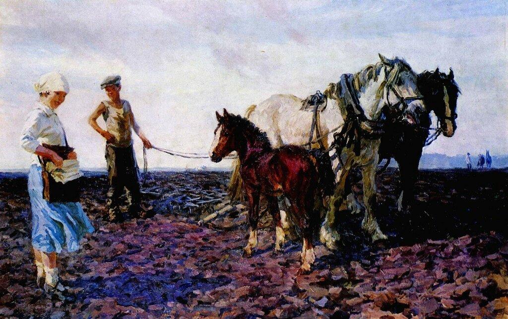 Колхозный почтальон. 1940. Пластов Аркадий Александрович (1893-1972)