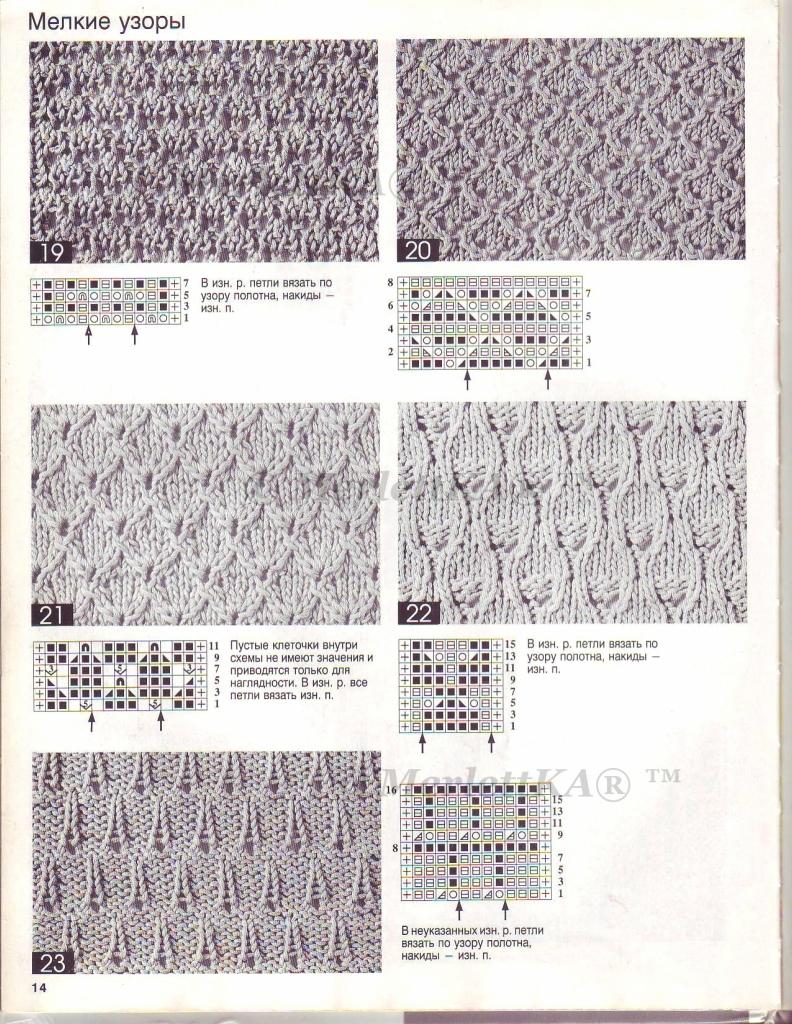Узоры для детского вязания спицами с описанием и схемами 92