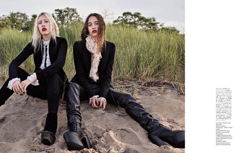 Тиг и Элизабет Дэвисон в японском Vogue