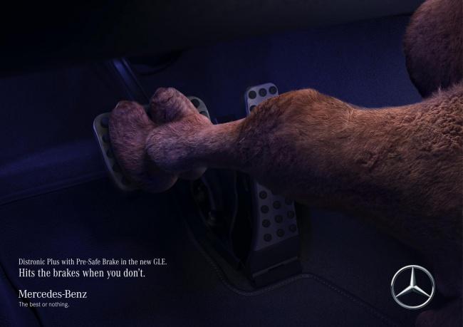 © IMPACT BBDO     Компания Mercedes-Benz выпустила рекламу автомобиля, который контролиру