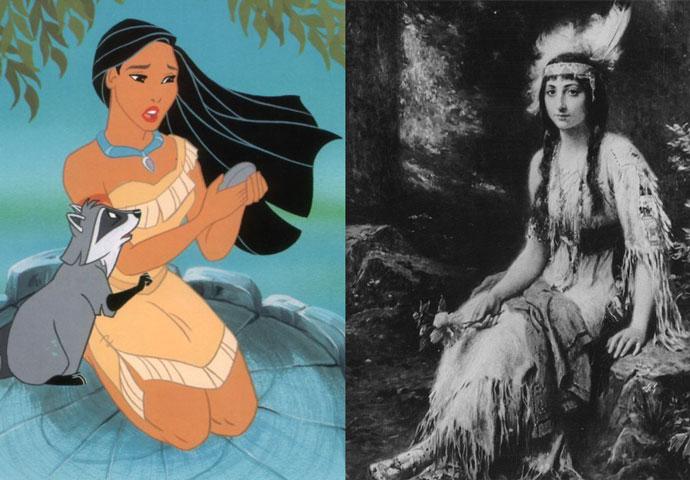 Покахонтас — принцесса Матоака    Если до этого прообразами диснеевских красави