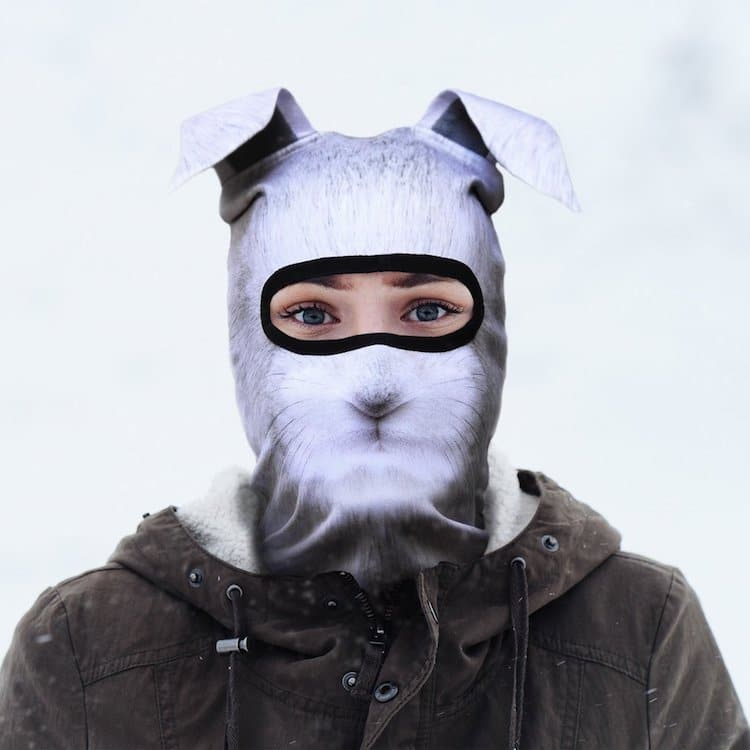 Животные на лыжах: дизайнеры из Канады накреативили «звериные» балаклавы