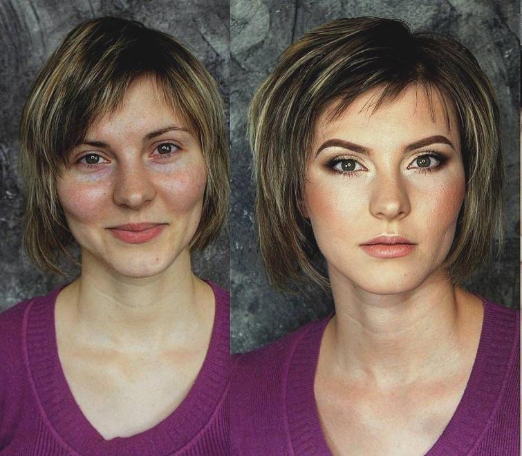 До и после: 18 наглядных примеров того, как самый обыкновенный макияж меняет женщин!