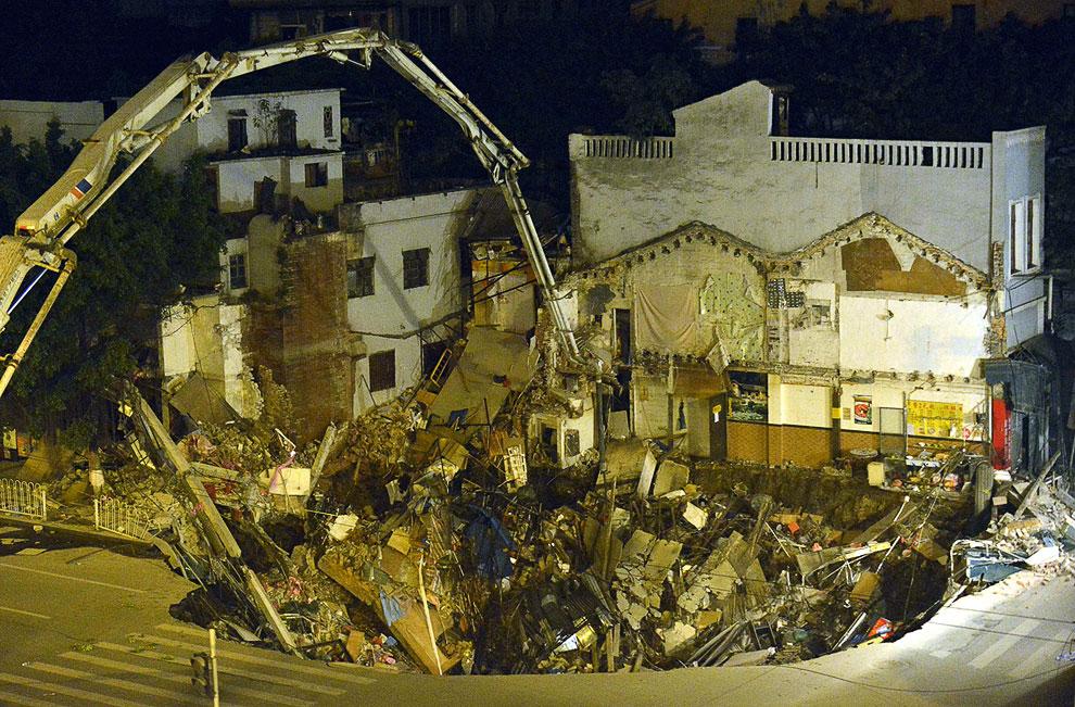 17. 16 января 2011 в китайской провинции Чжэцзян прогремел непонятной природы взрыв, и на дороге обр