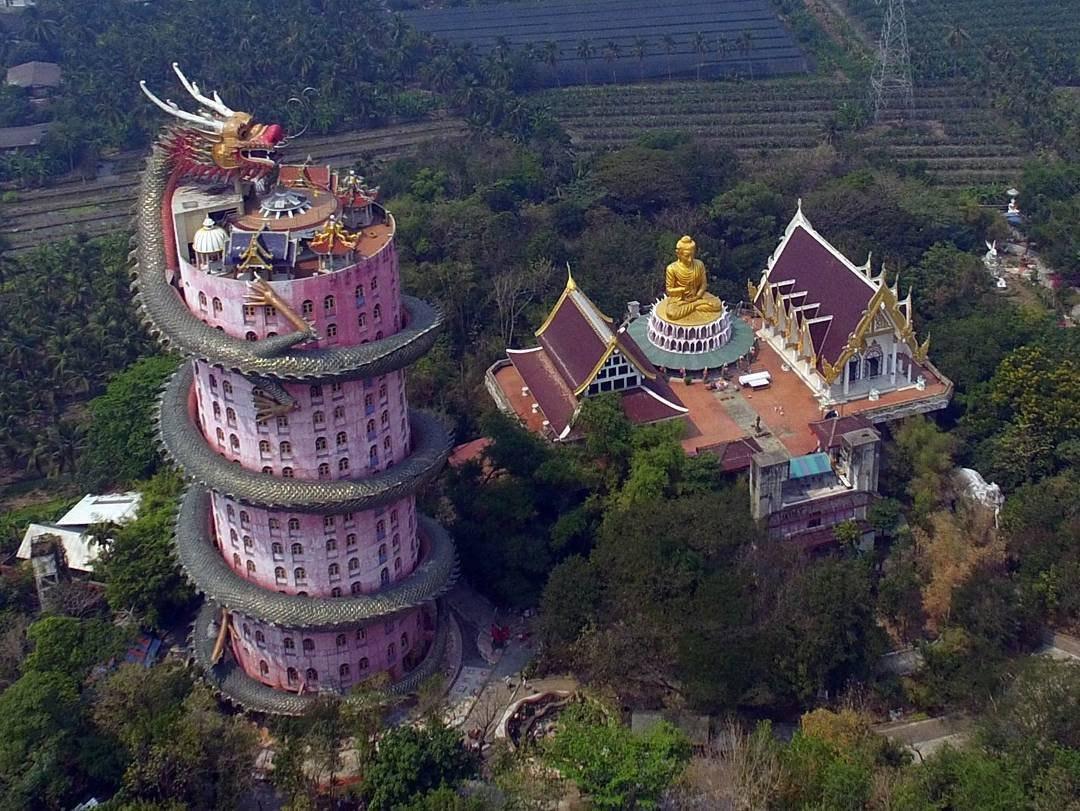 Ват Сампхан: Храм Дракона в Таиланде