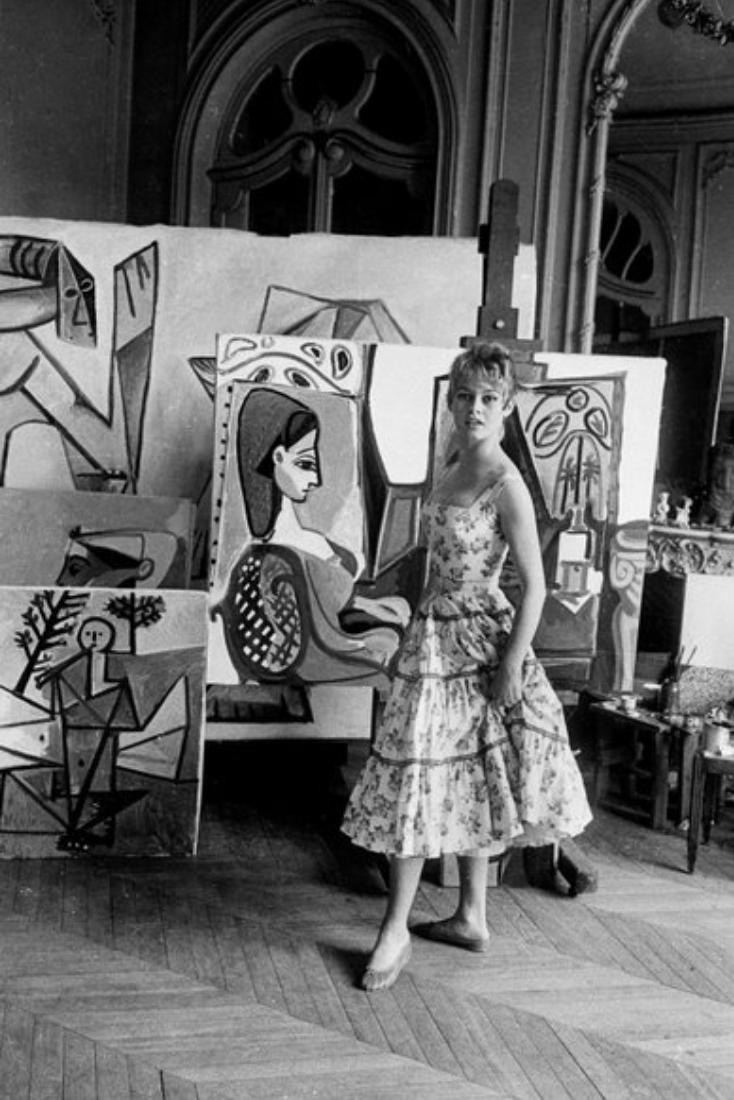 Портрет Сильветт Давид в зеленом кресле. Пабло Пикассо, 1954
