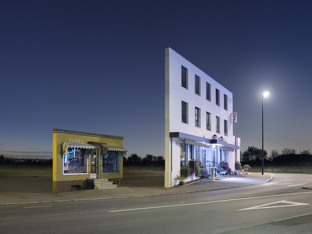 Isolated Facades Stand Precariously in the Twilight by Zacharie Gaudrillot-Roy