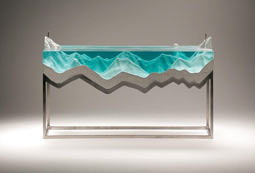 Stunning Glass and Concrete Ocean Sculptures