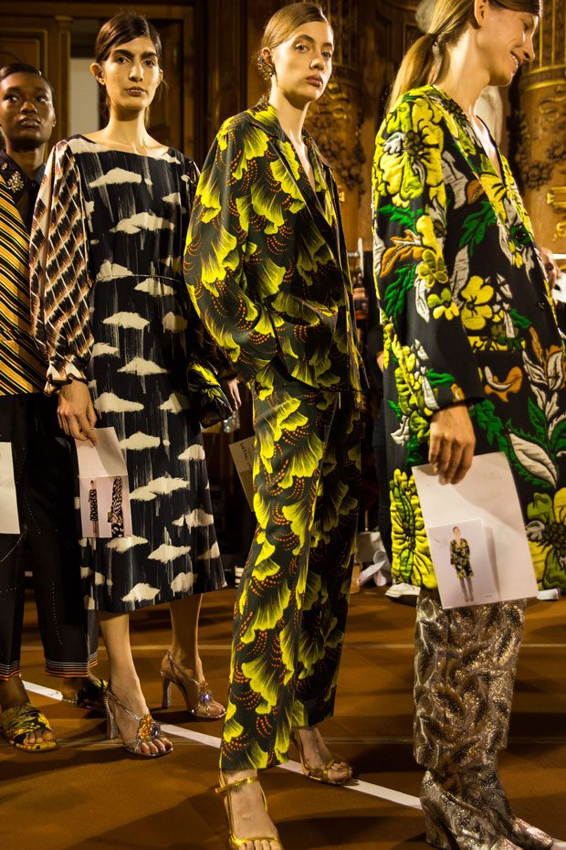 Go Backstage at Dries Van Noten Spring Summer 2018 Collection