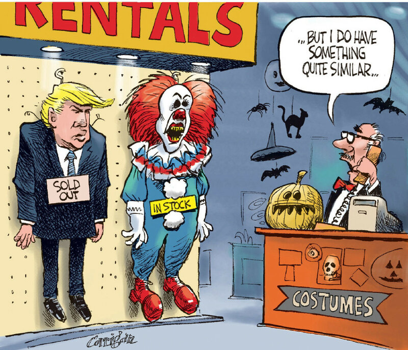 Patrick Corrigan Trump and the clown