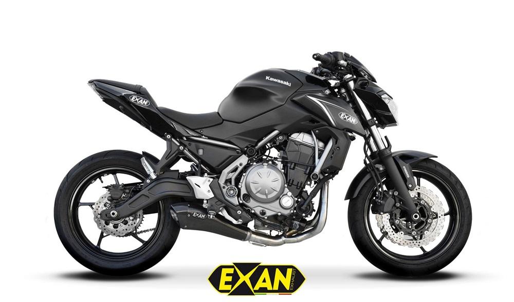 Выхлоп EXAN X-Black Ovale/EVO для Kawasaki Z650