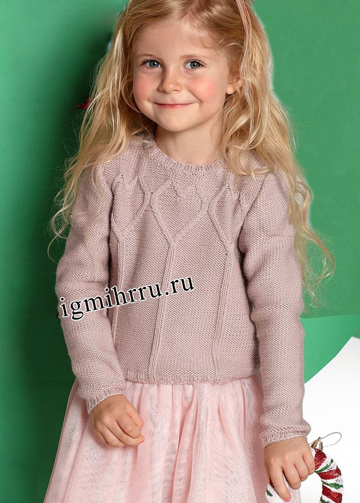 Вязание спицы свитера для девочки 3 лет 27 МЕТОДИНАМИКА