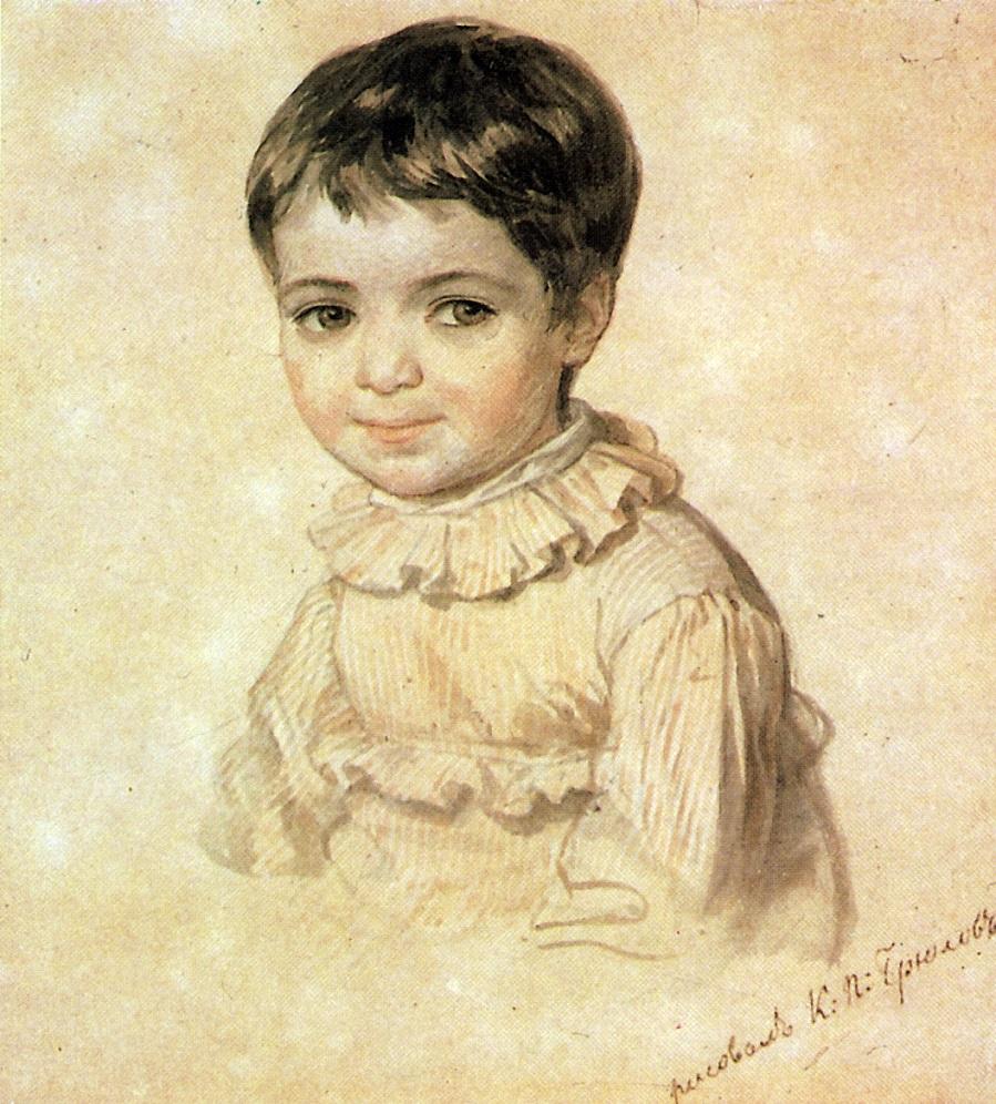 Портрет М.П.Кикиной в детстве. 1817-1820 Государственная Третьяковская галерея, Москва.
