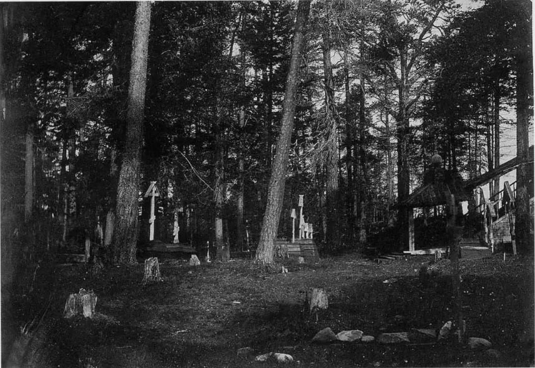 Окрестности Онеги. Кий-остров. Крестный монастырь. Кладбище