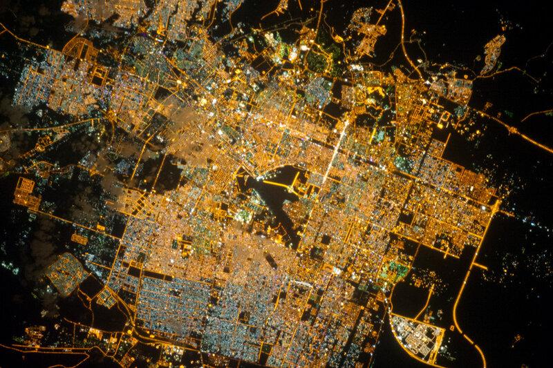 Эр-Рияд ночью. Саудовская Аравия