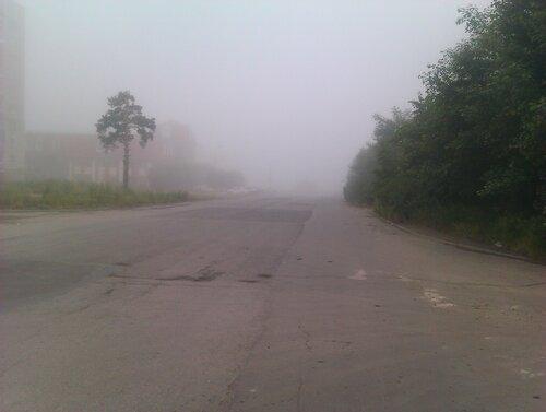 Туман в Златоусте