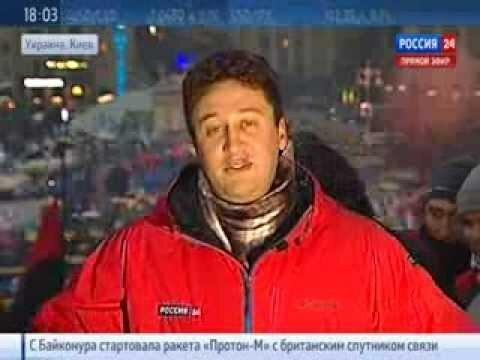 Репортеру Вестей в прямом эфире вручили