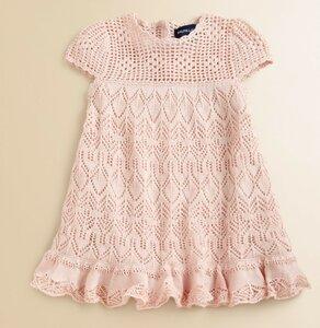 Ажурные платья спицами детские