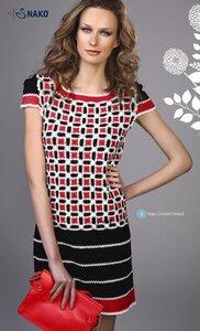 Трехцветное платье из каталога NAKO от Rena Lange ss 2012