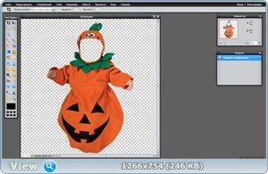 """Бесплатный детский шаблон для фотошопа """"Карнавальный костюм для Хэллоуин"""""""