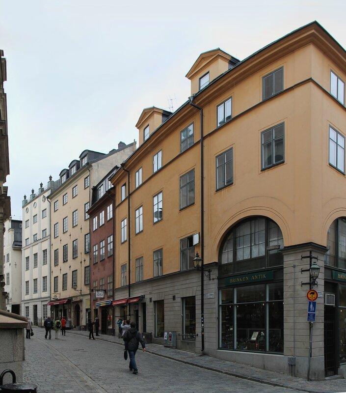 Стокгольм, Гамла Стан,  Улица Тренгсунд. Stuténska Huset. Trångsund. Stockholm, Gamla Stan