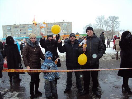 Встреча Эстафеты Олимпийского Огня в Барабинске. Аспект.