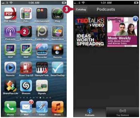Если приложение «Подкасты» (Podcasts) не появляется на домашнем экране, перейдите в App Store и установите его на iPhone