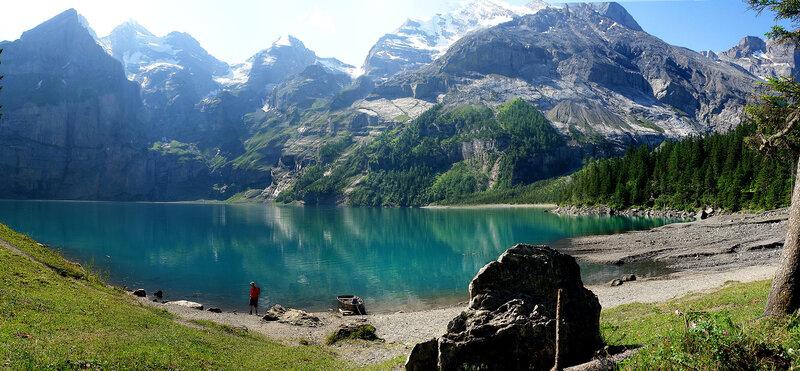 панорама озера Öшинен