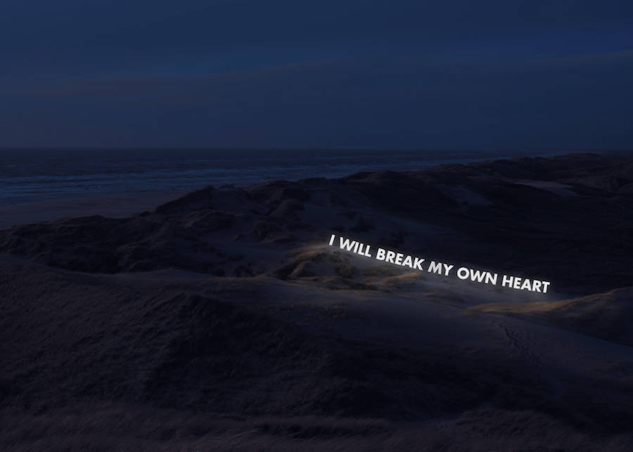 Illuminated Neon Sentences about Deep Feelings