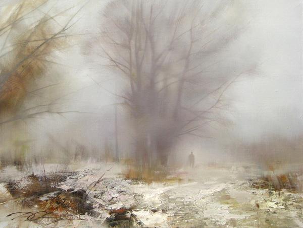 Человек по сути одинок, он приходит и уходит в одиночку. Художник Дмитрий Орлов
