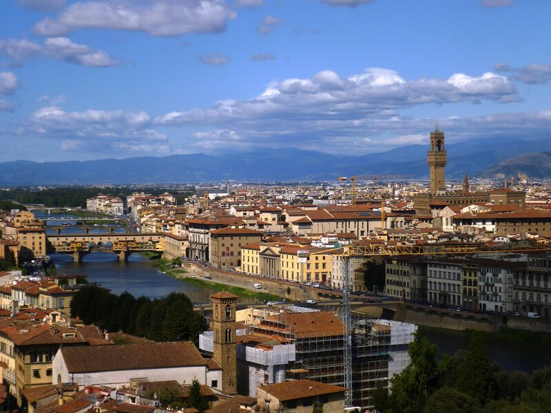 Италия, Флоренция. Вид на город (Italy, Florence. View of the city)