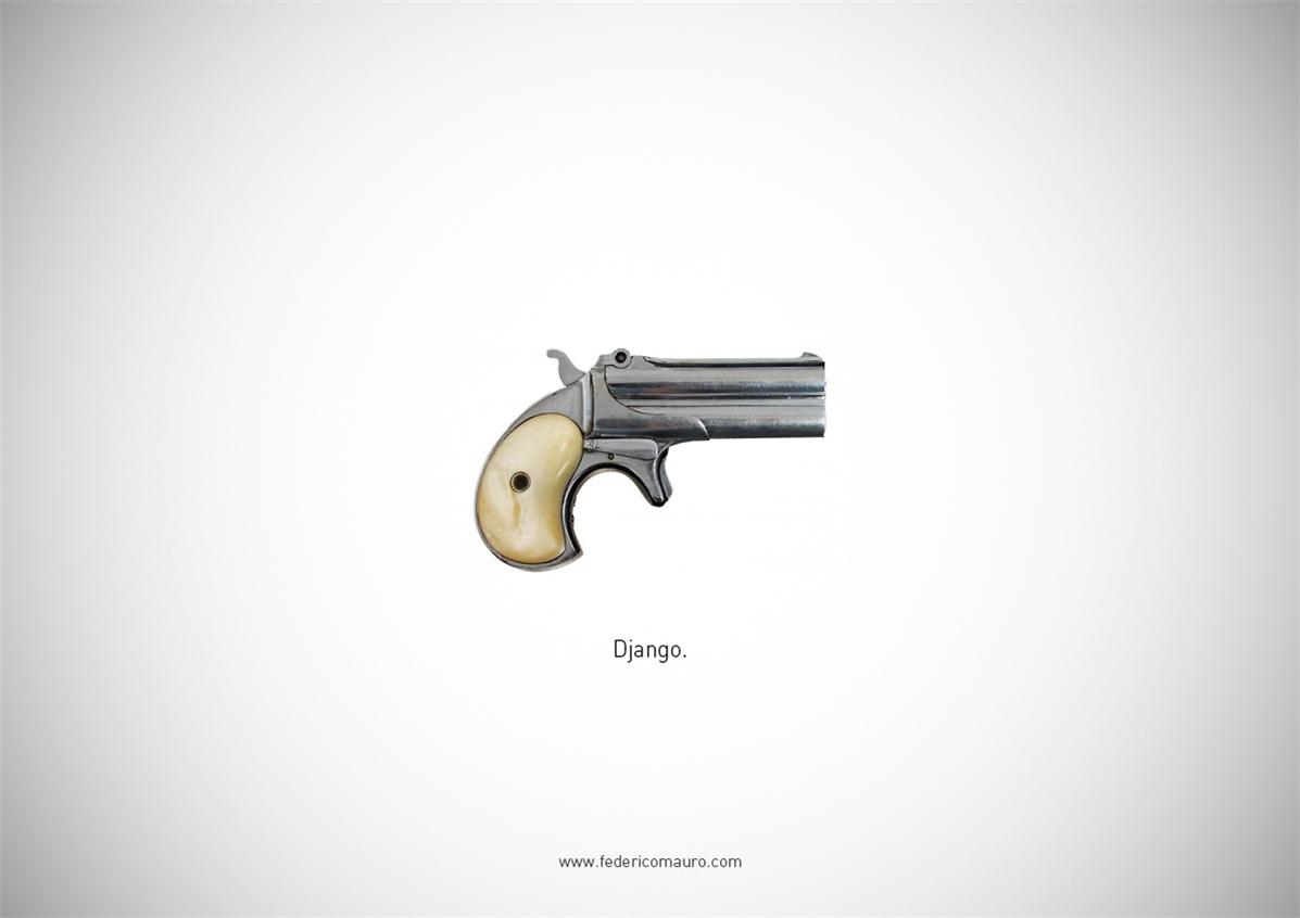 Знаменитые пушки - оружие культовых персонажей / Famous Guns by Federico Mauro - Django (Django Unchained)
