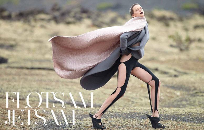 модель Элиз Кромбез / Elise Crombez, фотограф Hans Feurer
