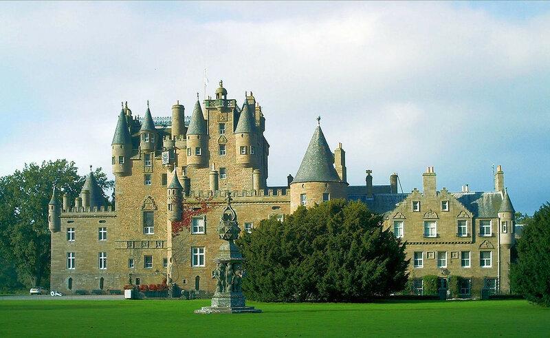 Замок Glamis, шотландский домой Strathmores