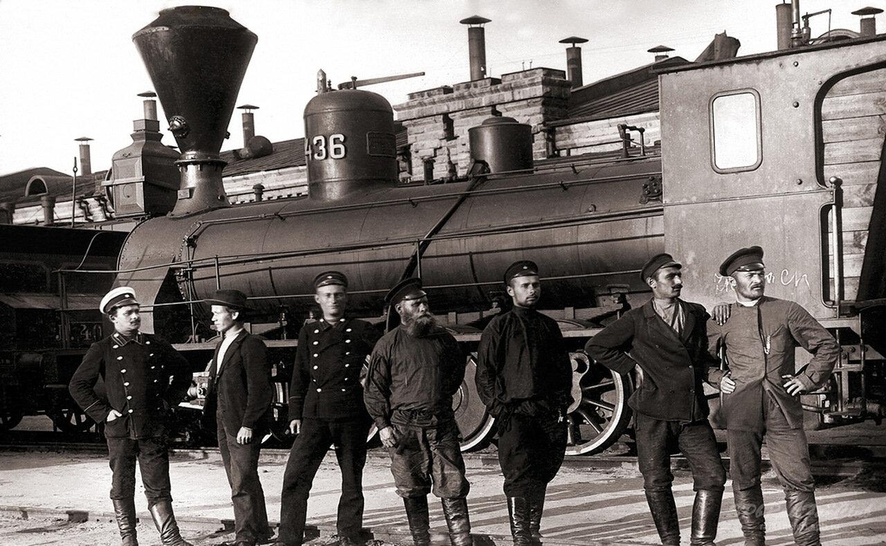 Паровозное депо станции Челябинск. Самаро-Златоустовская ж.д., начало ХХ века
