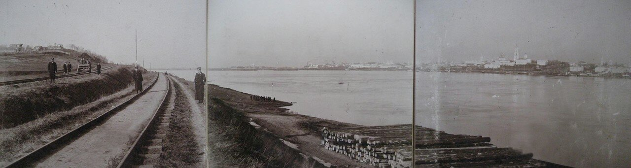 Панорама Костромы снятая недалеко от церкви во имя святого пророка Божия Илии на Городище