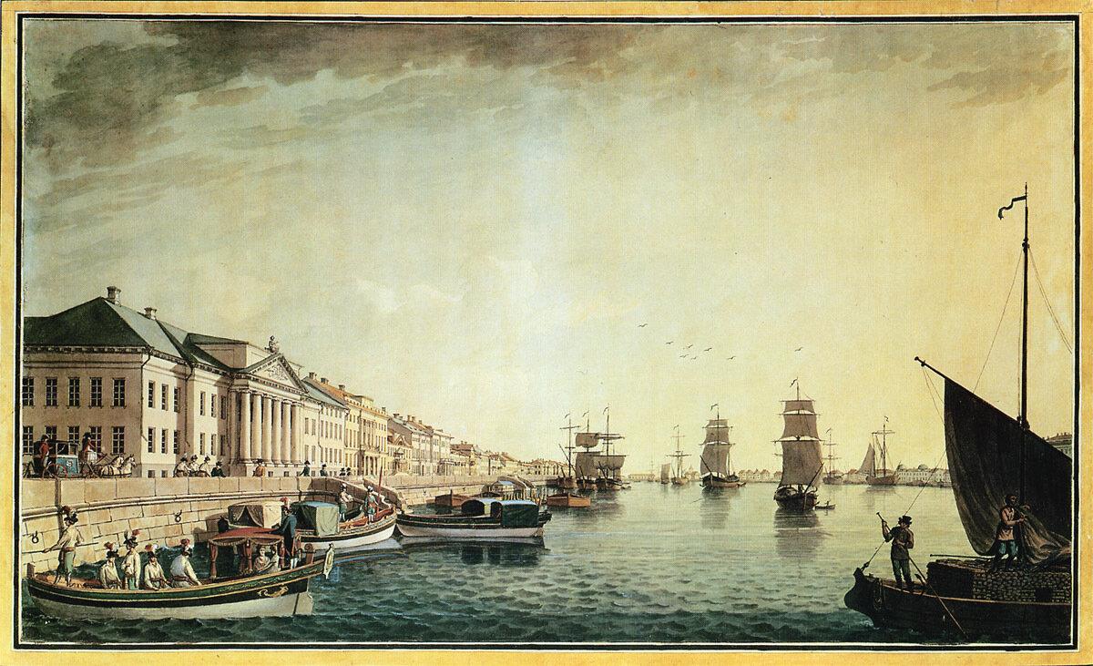Набережная Невы у Сената 1801