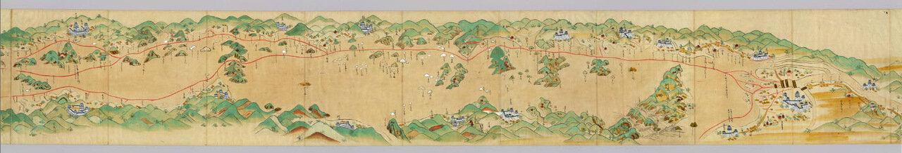 Японская карта 1687