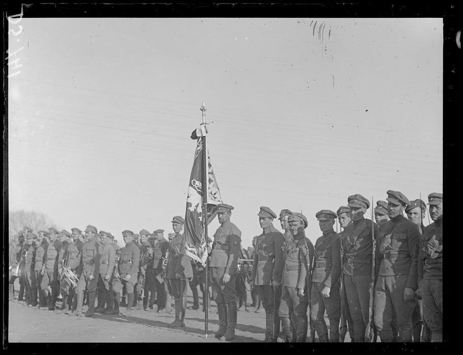 1919. Омск. Флаг чешского легиона