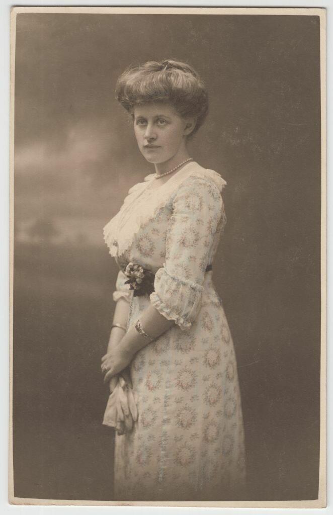 1913. Эвелина Майделл в свадебное платье. Бреслау.