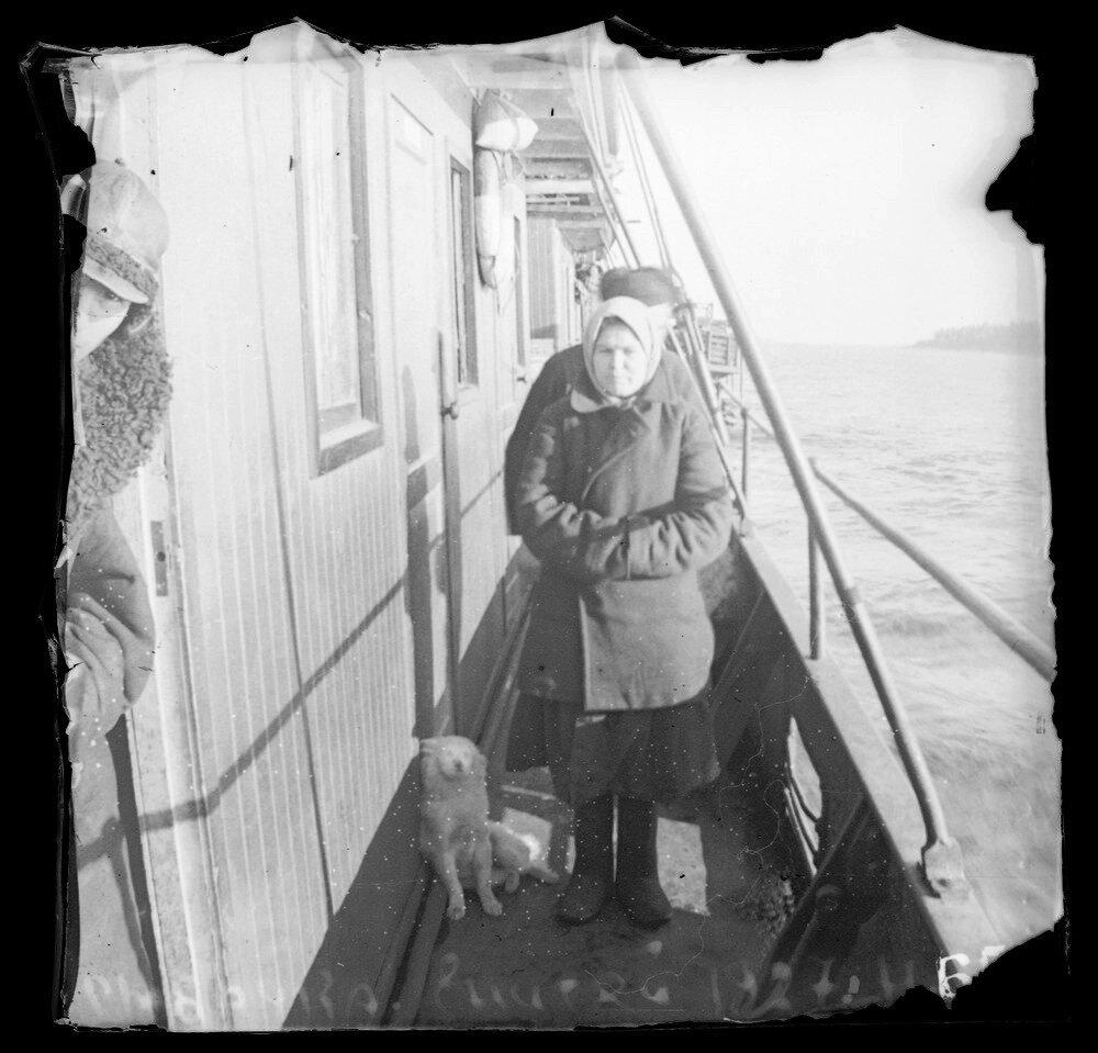 1927. Енисей. Рыбачка