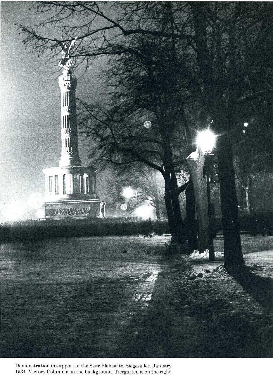 1934. Демонстрация в поддержку плебисцита по вопросу о будущем Саара