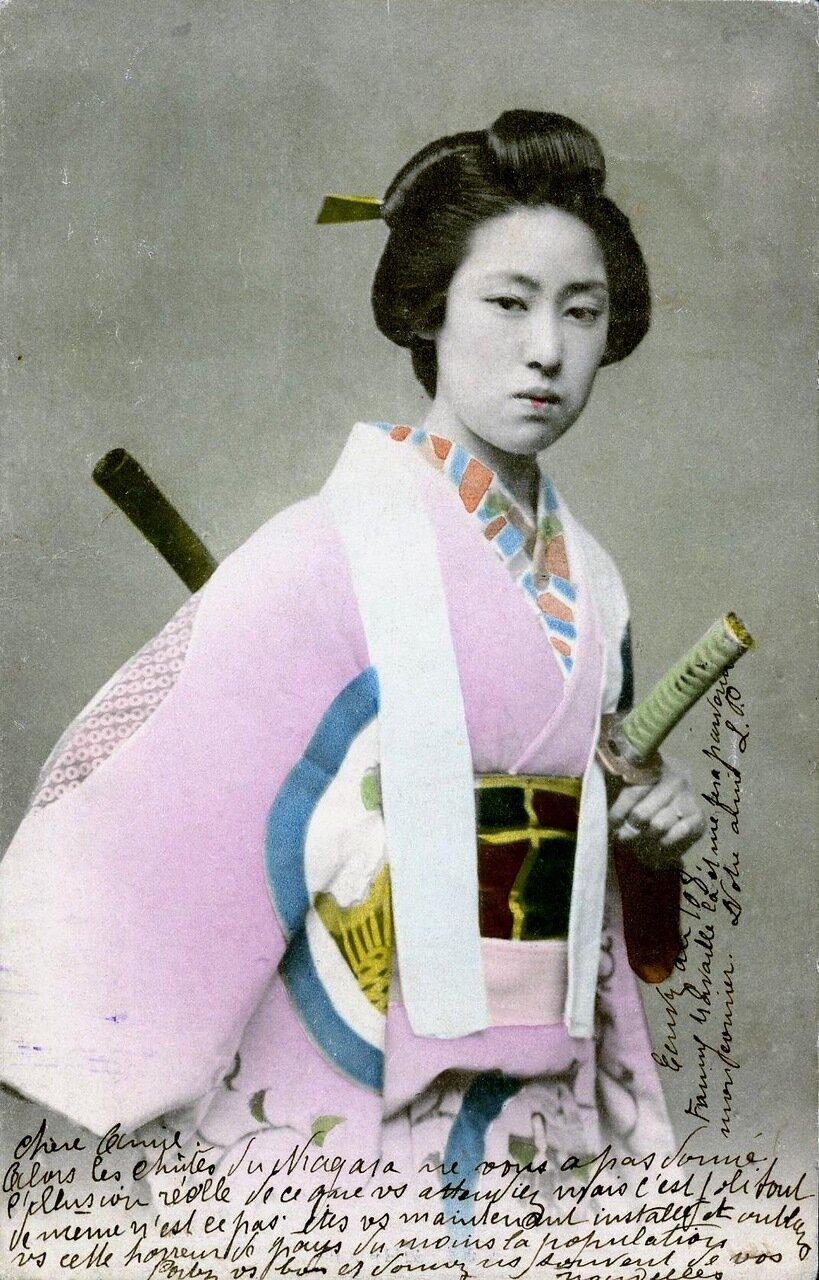 1906. О-Сана Сан, гейша района Йоши-чо в Токио