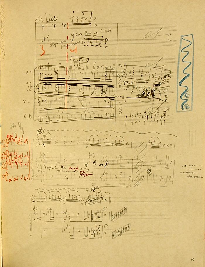 The Sacrificial Dance from The Rite of Spring in Igor Stravinsky's own hand, first performed 1913